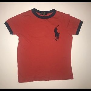 Polo Ralph Lauren red 100% cotton logo embroidery